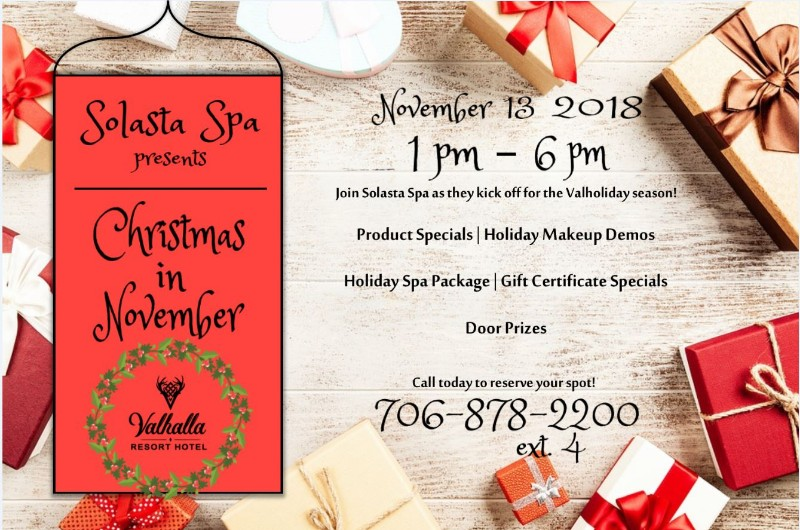Christmas Spa Packages.Christmas In November Presented By Solasta Spa Rabun